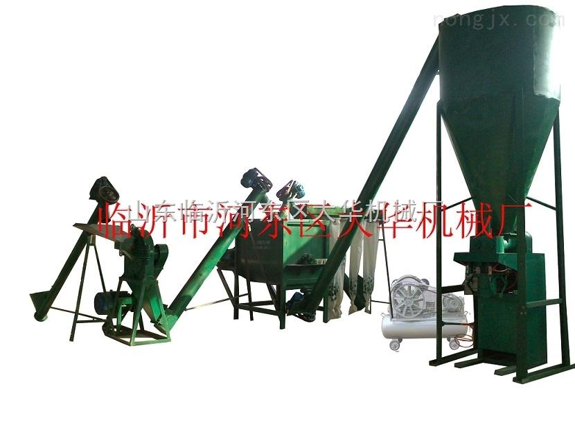 硫酸钾复合肥生产设备机组配粉碎搅拌除尘包装输送等