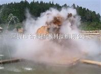 湖北假山园林造雾设备喷雾造景工程