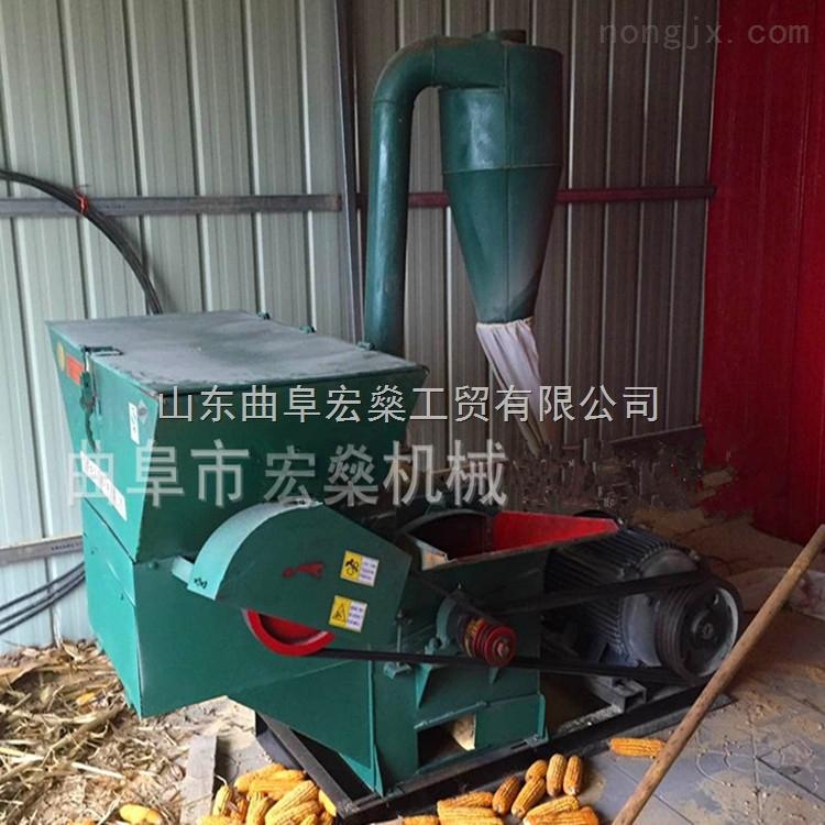 稻草秸秆粉碎机 锤片式自动进料粉碎机