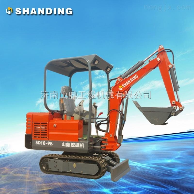 sd18-9b 农田挖排水沟的山鼎迷你挖掘机【2吨小型挖掘机】